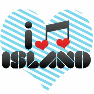 I Love Island Acrylic Cut Outs