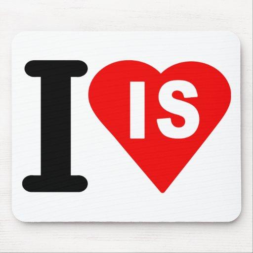 i_love_Island.png Tapete De Raton