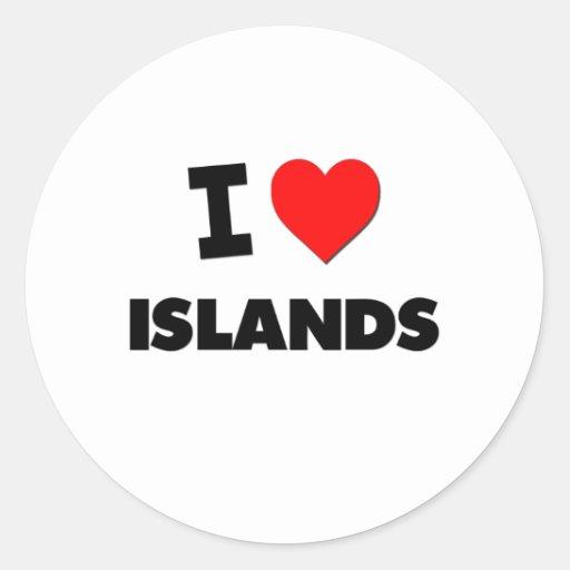 I Love Islands Classic Round Sticker