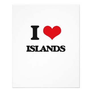 "I Love Islands 4.5"" X 5.6"" Flyer"