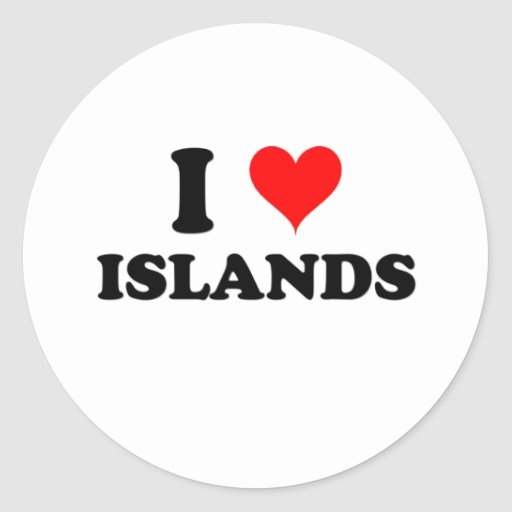 I Love Islands Stickers