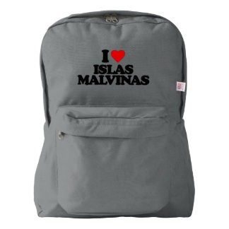 I LOVE ISLAS MALVINAS AMERICAN APPAREL™ BACKPACK