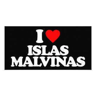 I LOVE ISLAS MALVINAS PHOTO CARD TEMPLATE