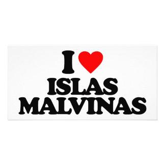 I LOVE ISLAS MALVINAS PERSONALIZED PHOTO CARD