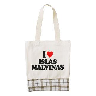 I LOVE ISLAS MALVINAS ZAZZLE HEART TOTE BAG
