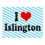 I Love Islington, United Kingdom Postcard