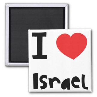 I love Israel 2 Inch Square Magnet