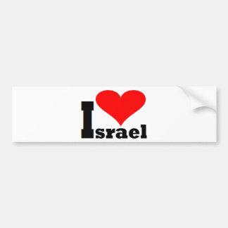 I love Israel Car Bumper Sticker