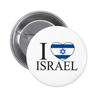 I Love Israel Pinback Buttons