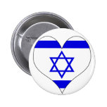 I Love Israel Buttons