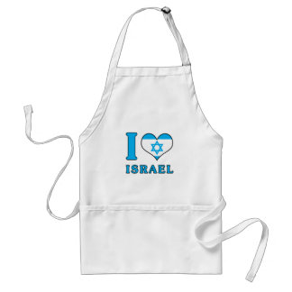 I Love Israel - Flag with Magen David Adult Apron