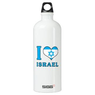 I Love Israel - Flag with Magen David Water Bottle