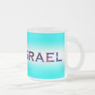 I (Love) Israel Frosted Glass Coffee Mug