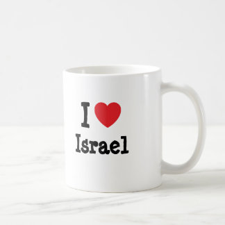 I love Israel heart custom personalized Classic White Coffee Mug