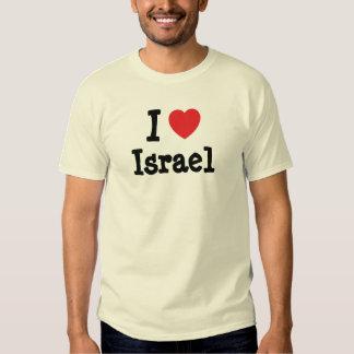 I love Israel heart custom personalized Tee Shirt