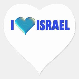 I Love Israel Heart Sticker