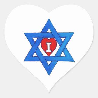 I LOVE ISRAEL! HEART STICKER