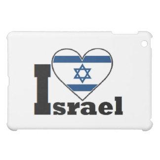 I Love Israel Ipod Case large Flag of Israel heart Case For The iPad Mini