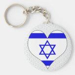 I Love Israel Keychain