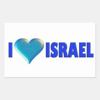 I Love Israel Rectangular Sticker