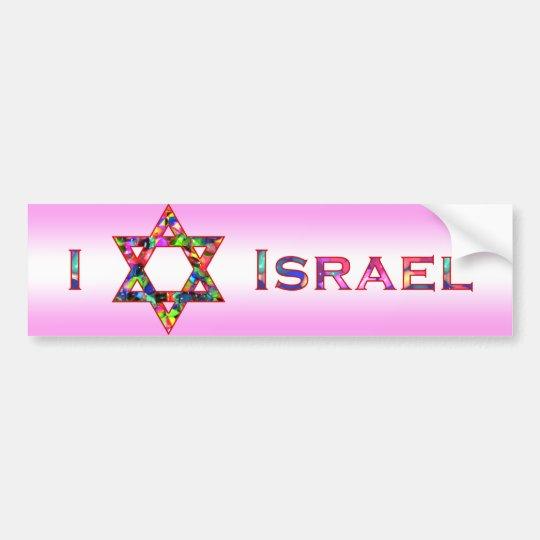 I (Love) Israel - Star of David Bumper Sticker