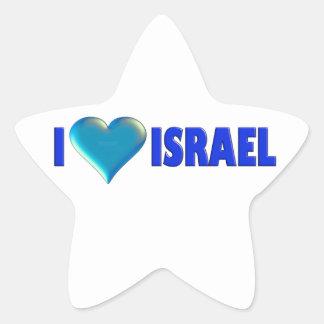 I Love Israel Star Sticker