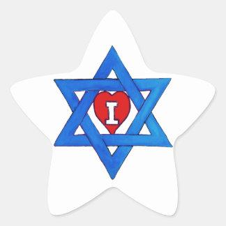 I LOVE ISRAEL! STAR STICKER
