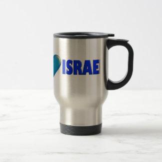 I Love Israel Travel Mug