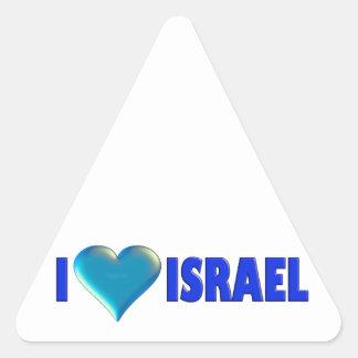 I Love Israel Triangle Sticker