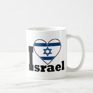 I Love Israel - with large Flag of Israel heart Coffee Mug
