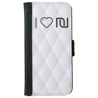 I Love Israeli Currencys iPhone 6 Wallet Case