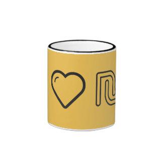 I Love Israeli Currencys Ringer Coffee Mug