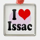 I love Issac Christmas Tree Ornament
