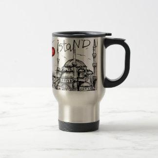 I love Istanbul 15 Oz Stainless Steel Travel Mug