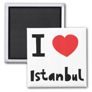 I love Istanbul 2 Inch Square Magnet