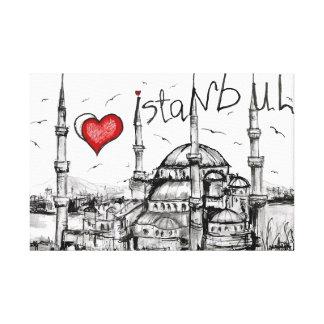 I love Istanbul Canvas Print