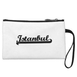I love Istanbul Turkey Classic Design Wristlet Clutch