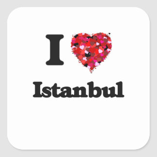 I love Istanbul Turkey Square Sticker