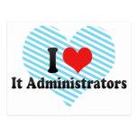 I Love It Administrators Post Cards