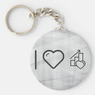 I Love It Increasings Basic Round Button Keychain