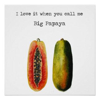 I Love It When You Call Me Big Papaya Poster