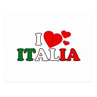 I Love Italia Postcard