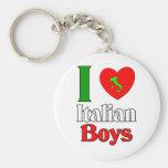 I  Love Italian Boys Basic Round Button Keychain
