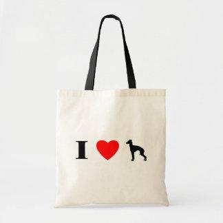 I Love Italian Greyhounds Bag