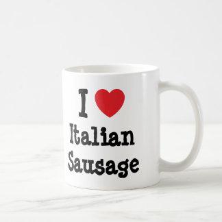 I love Italian Sausage heart T-Shirt Coffee Mug