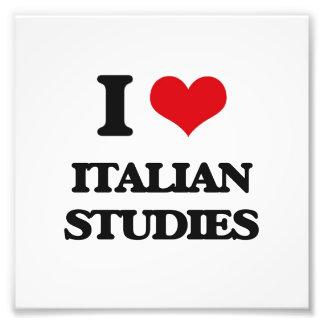 I Love Italian Studies Photo Print