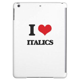 I Love Italics iPad Air Cases