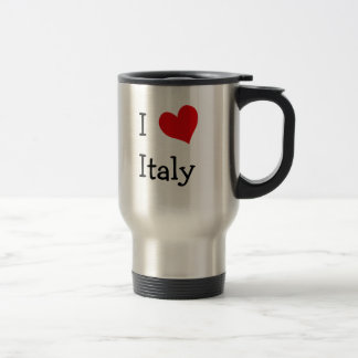I Love Italy 15 Oz Stainless Steel Travel Mug