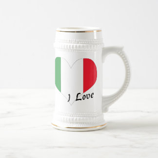 I love Italy 18 Oz Beer Stein
