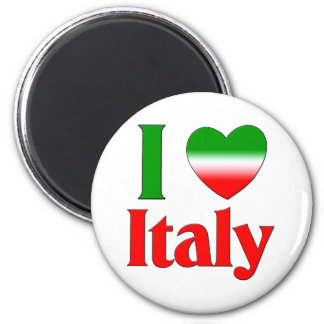 I Love Italy 2 Inch Round Magnet
